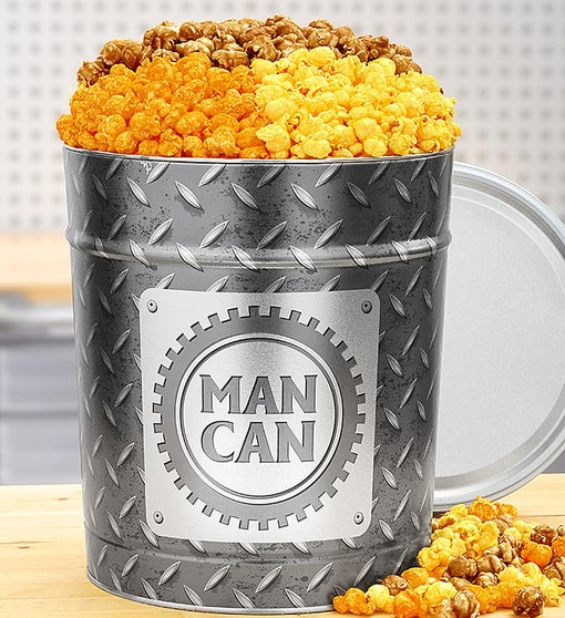 The Man Can Popcorn Tin