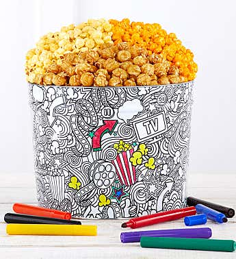 Creative Color 2 Gallon Popcorn Tin