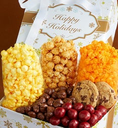 Gold Snowflake Snack Gift Box