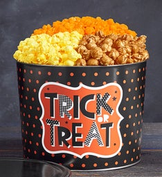 Trick Or Treat 3 Flavor Popcorn Tins