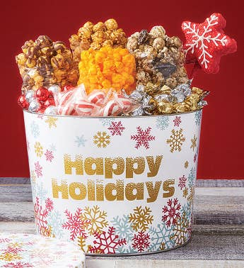 2 Gallon Sparkling Snowflake Happy Holidays Grand Snack Assortment