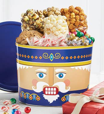 2 Gallon Blue Nutcracker Grand Snack Assortment