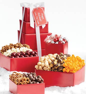 4-Tier Simply Red Tower