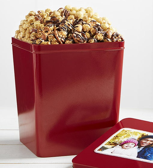 3 Gallon Nutty Trio 3 Flavor Popcorn Tin