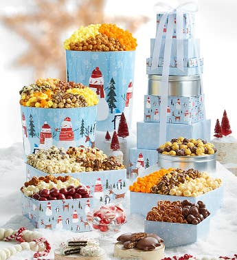 8-Tier Snow Day Tower  Tin