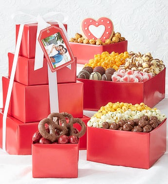 Simply Red 4-Tier Valentine Tower