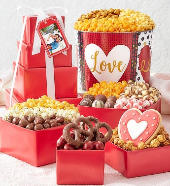 Wild About You 4-Tier Tower  Popcorn Tin