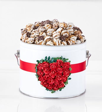 1/2 Gallon Pail with Rose Heart Band