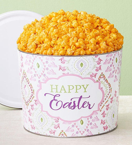 Happy Easter 2 Gallon Pick a Flavor Popcorn Tins