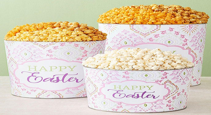 Happy Easter Popcorn Tins