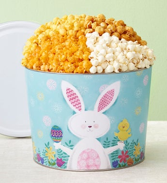 Easter Bunny Popcorn Tins