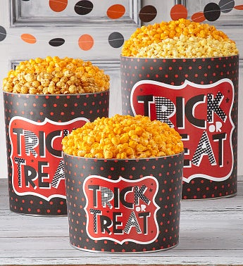 Trick Or Treat 2 Gallon Popcorn Tins