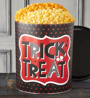 Trick Or Treat 6 1/2 Gallon Popcorn Tins