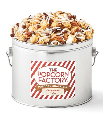 Cinnamon Roll Popcorn Snack Mix