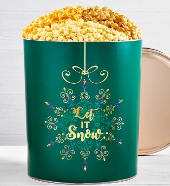 Let It Snow Popcorn Tins