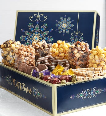 Let It Snow Snowflake Chocolate Lovers Sampler
