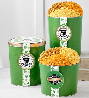 St Patricks Day Popcorn Tins