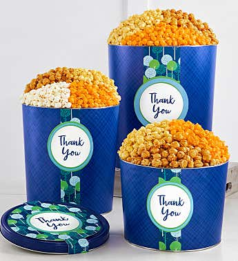 New! Thanks A Bunch Popcorn Tins