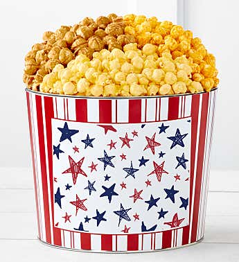 Tins With Pop® Red & Blue Stars