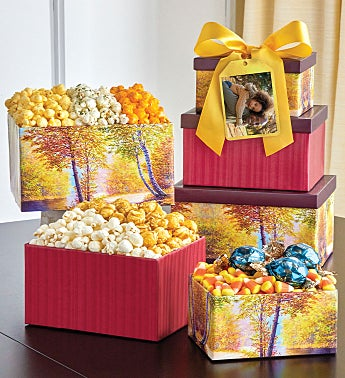 Autumn Canvas 3 Box Gift Tower