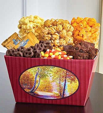 Autumn Canvas Chocolate Lovers Basket