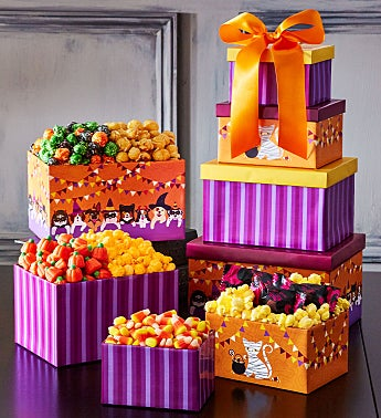Halloween Howlers 4 Box Gift Tower