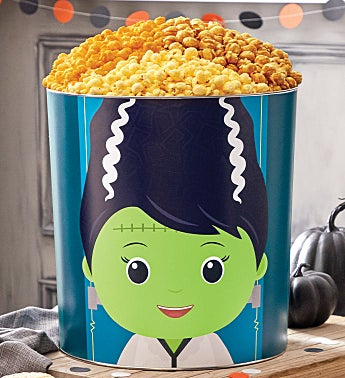 TPF Monster Mash Bride of Frankie 6 1/2 Gallon Popcorn Tin