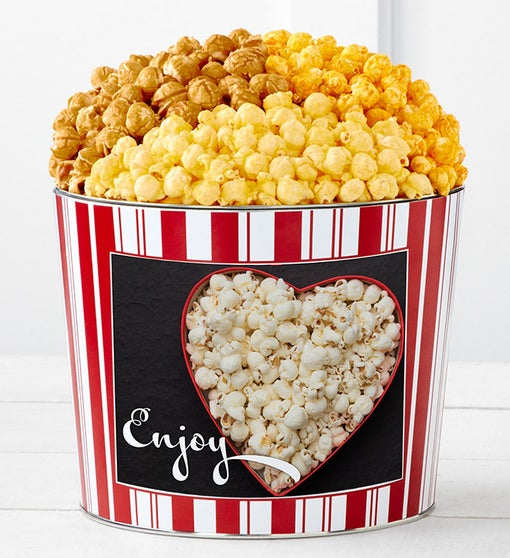 Tins With Pop™ Enjoy Popcorn