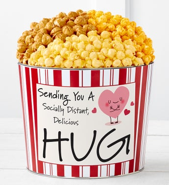 Tins With Pop Socially Distant Hug Heart