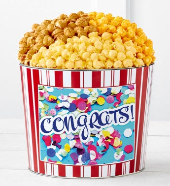 Tins With PopCongratulationsConfetti
