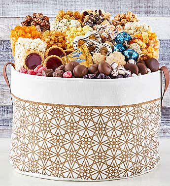 Shining Snowflake Ultimate Gift Basket