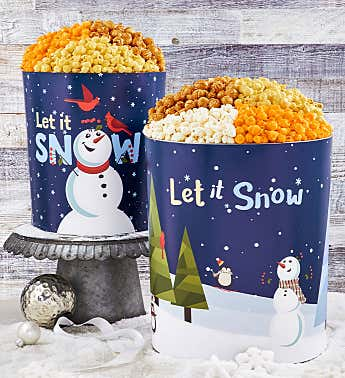 Snow Much Fun Popcorn Tins