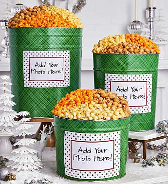 Framed In Polka Dots Popcorn Tins