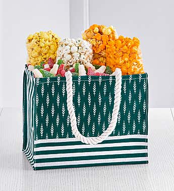 Green Holiday Pine Gift Tote