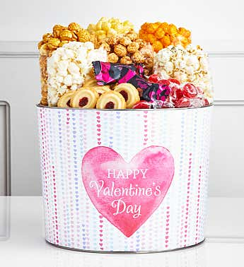 Bursting With Love 2 Gallon Premium Snack Popcorn Tin