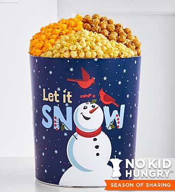 Snow Much Fun 3 1/2 Gallon Popcorn Tin