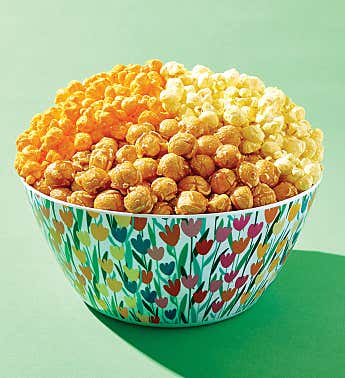Tulips Popcorn Bowl With Snacks