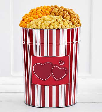 Tins With Pop® 4 Gallon Double Red Hearts