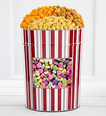 Tins With Pop® 4 Gallon Love You Love Me Heart Candies