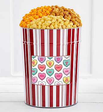 Tins With Pop® 4 Gallon Conversation Hearts