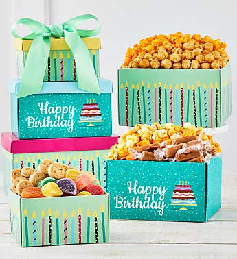 3 Gift Box Birthday Wishes Tower