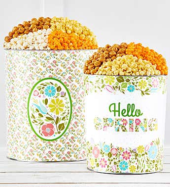Swing Into Spring Popcorn Tins