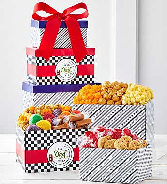 Best Dad Ever 3-Box Gift Tower