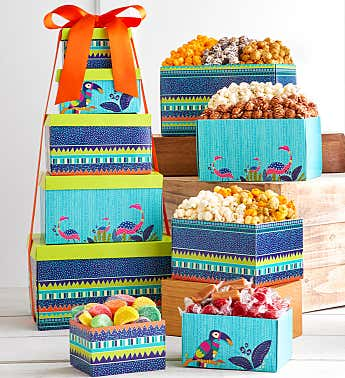 Tropical Vibes 5-Box Gift Tower