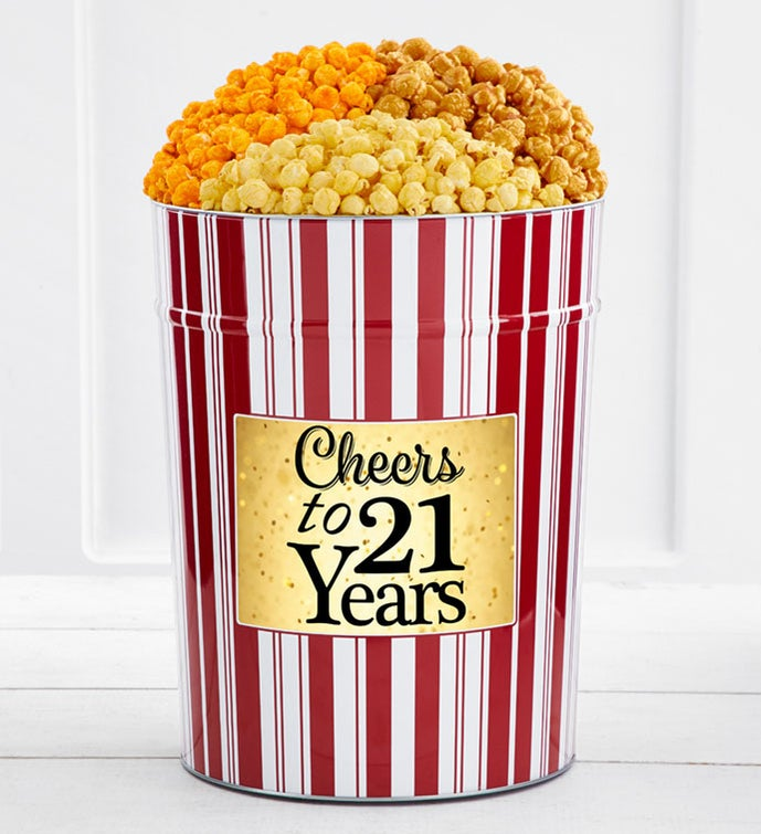 Tins With Pop® 4 Gallon Cheers To 21 Years