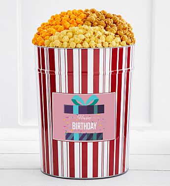 Tins With Pop® 4 Gallon Happy Birthday Gift