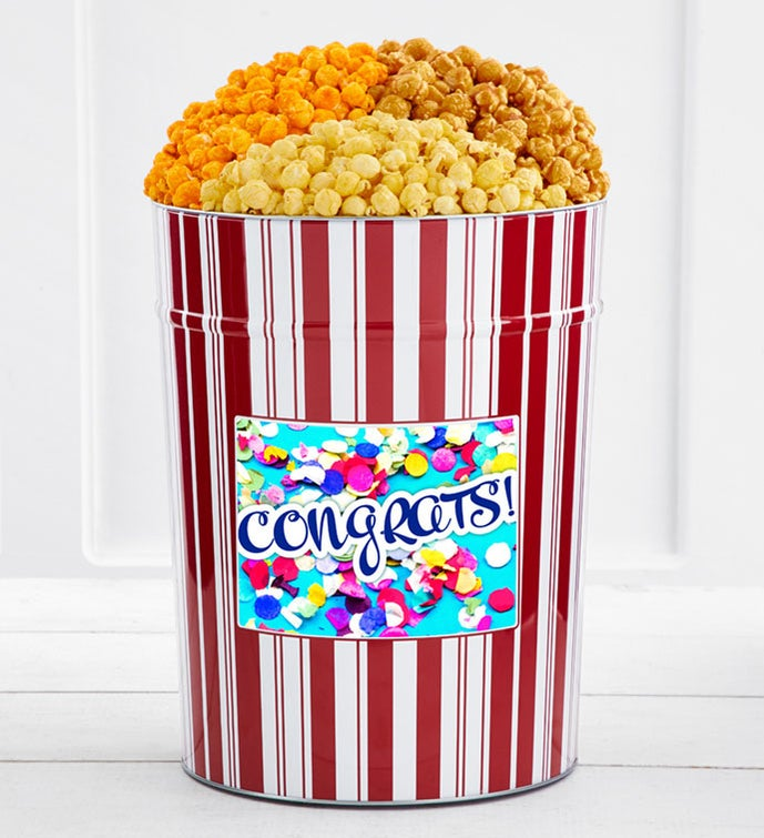 Tins With Pop® 4 Gallon Congratulations Confetti