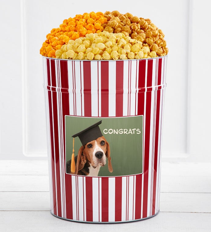 Tins With Pop® Congrats Dog With Graduation Cap