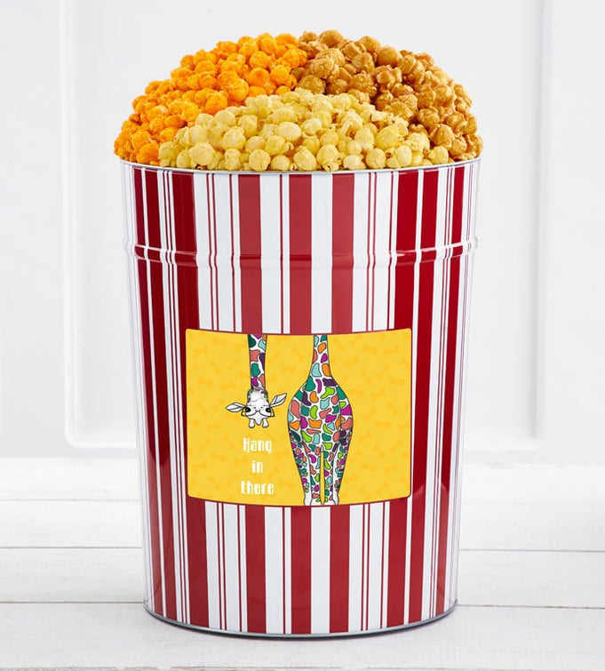 Tins With Pop® 4 Gallon Hang In There Colorful Giraffe