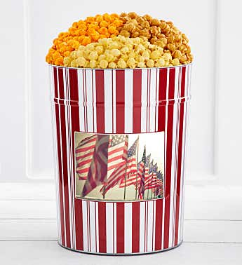 Tins With Pop® 4 Gallon Waving Flags